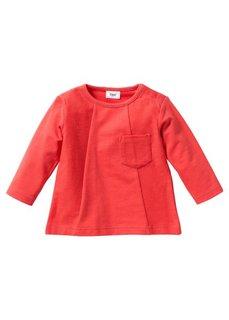 Мода для малышей: свитшот из биохлопка, Размеры  56/62-104/110 (омаровый) Bonprix