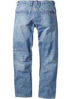 Джинсы Regular Fit Straight, длина (в дюймах) 34 (темно-синий «потертый») Bonprix