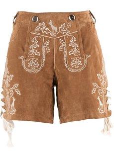 Кожаные шорты (темно-коричневый) Bonprix
