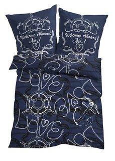 Постельное белье Любовь к морю, линон (различные расцветки) Bonprix