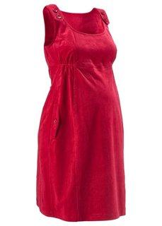 Вельветовое платье (темно-коричневый) Bonprix
