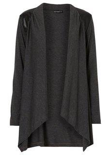 Трикотажная куртка (коричневый меланж) Bonprix