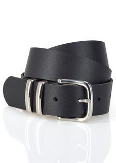 Кожаный ремень Дастин (черный) Bonprix
