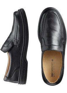 Кожаные слиперы (черный) Bonprix