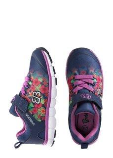 Кроссовки (темно-синий в цветочек) Bonprix