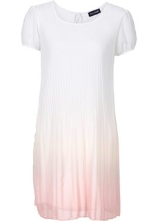 Плиссированное платье в стиле батик (белый батик/серый) Bonprix
