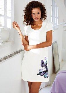 Ночная футболка (цвет белой шерсти с рисунком) Bonprix
