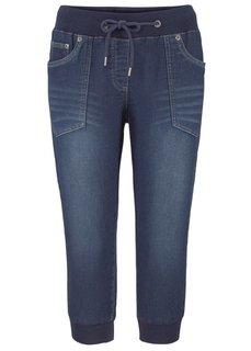 Спортивные брюки 3/4 (синий «потертый») Bonprix