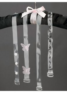 Прозрачные бретели (4 шт.) (прозрачный, звезды) Bonprix