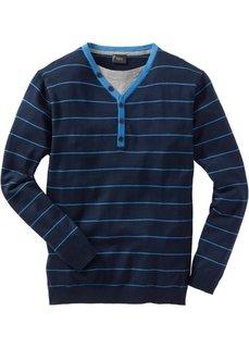 Пуловер 2 в 1 Regular Fit (черный в полоску) Bonprix