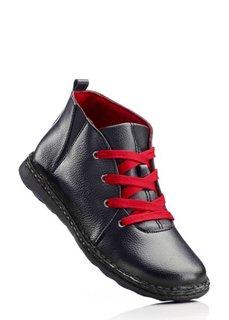Кожаные ботинки (темно-синий/желтый) Bonprix