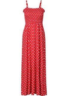 Макси-платье (ночная синь/белый в горошек) Bonprix