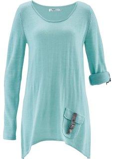 Пуловер (серо-синий) Bonprix