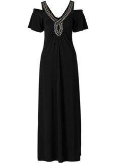 Макси-платье с бусинками (гранатовый) Bonprix