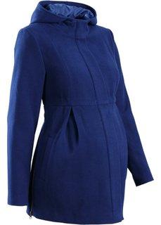 Мода для беременных: регулируемое полупальто с капюшоном (черный) Bonprix