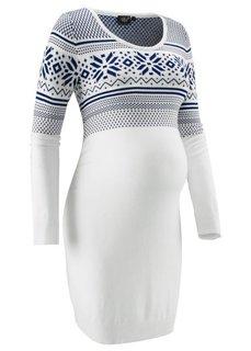 Для будущих мам: вязаное платье с норвежским узором (бордовый/цвет белой шерсти с у) Bonprix
