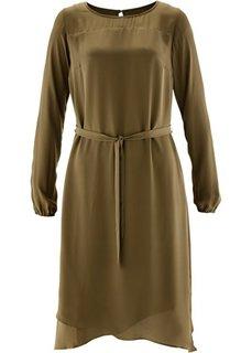 Шифоновое платье (мандариново-красный) Bonprix
