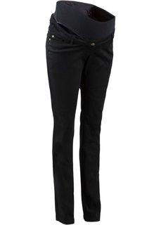 Для будущих мам: брюки с функцией регулирования ширины пояса, cредний рост (N) (минерально-синий) Bonprix