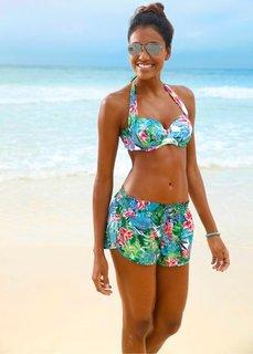 Пляжные шорты (зеленый с рисунком) Bonprix