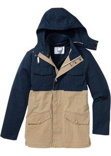 Куртка Regular Fit для межсезонья (темно-коричневый/бежевый) Bonprix