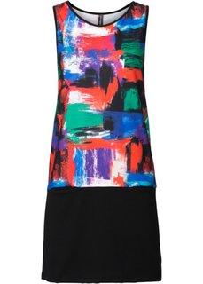 Трикотажное платье (цвет фуксии/кроваво-оранжевый) Bonprix