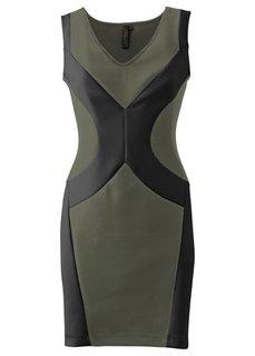 Платье под неопрен (черный/кремовый) Bonprix