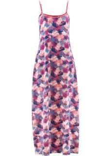 Трикотажное макси-платье (синий джинсовый в цветочек) Bonprix