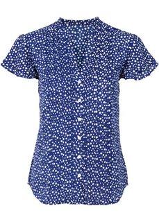 Блузка с плиссировкой (красный в горошек) Bonprix