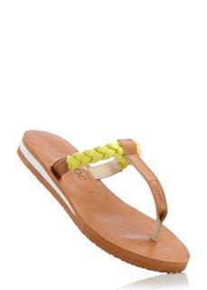 Пантолеты с перемычкой для большого пальца (светло-серый/бирюзовый) Bonprix