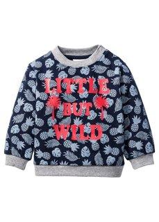 Мода для малышей: свитшот из биохлопка, Размеры  68/74-104/110 (темно-синий/светло-серый мелан) Bonprix