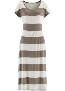 Трикотажное платье (черный/серо-коричневый в полос) Bonprix