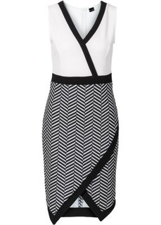 Платье асимметричного покроя (темно-коралловый/цвет белой ше) Bonprix