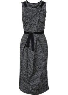 Платье с эффектом запаха (темно-корраловый/меланжевый цв) Bonprix