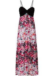 Макси-платье (синий/черный с узором) Bonprix