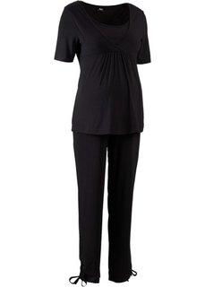 Мода для беременных: футболка + брюки (2 изд.) (темно-синий) Bonprix