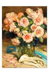 """Репродукция """"Розы в вазе"""" Glambers"""