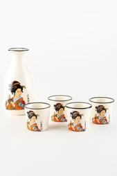 Кувшин для саке 1 шт, 4 стопки Saguro