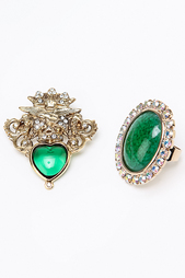 Набор: брошь, кольцо I Pavoni