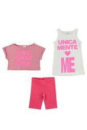 Комплект: футболка, топ, шорты IDO