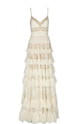 Платье с поясом Elie Saab