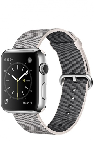 Apple Watch Stainless Steel Case with Woven Nylon Apple