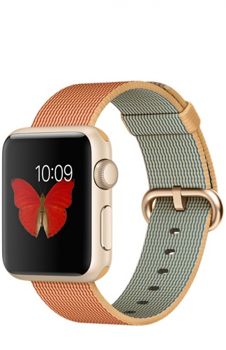 Apple Watch Sport Gold with Woven Nylon Apple