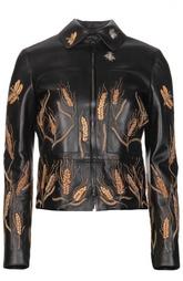 Куртка кожаная Valentino