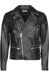 Куртка кожаная Saint Laurent