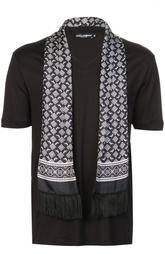 Футболка джерси с шарфом Dolce & Gabbana