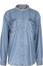 Джинсовая блуза Forte Couture