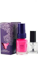 Лак для ногтей Kiss / Розовый леденец + Bond-подготовка Christina Fitzgerald