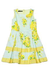 Платье, брошь Blumarine