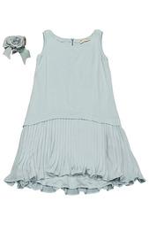 Платье джерси, брошь Monnalisa