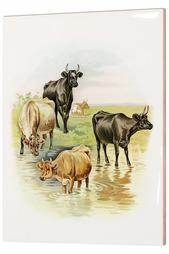 Керамическая картина Коровы Glambers